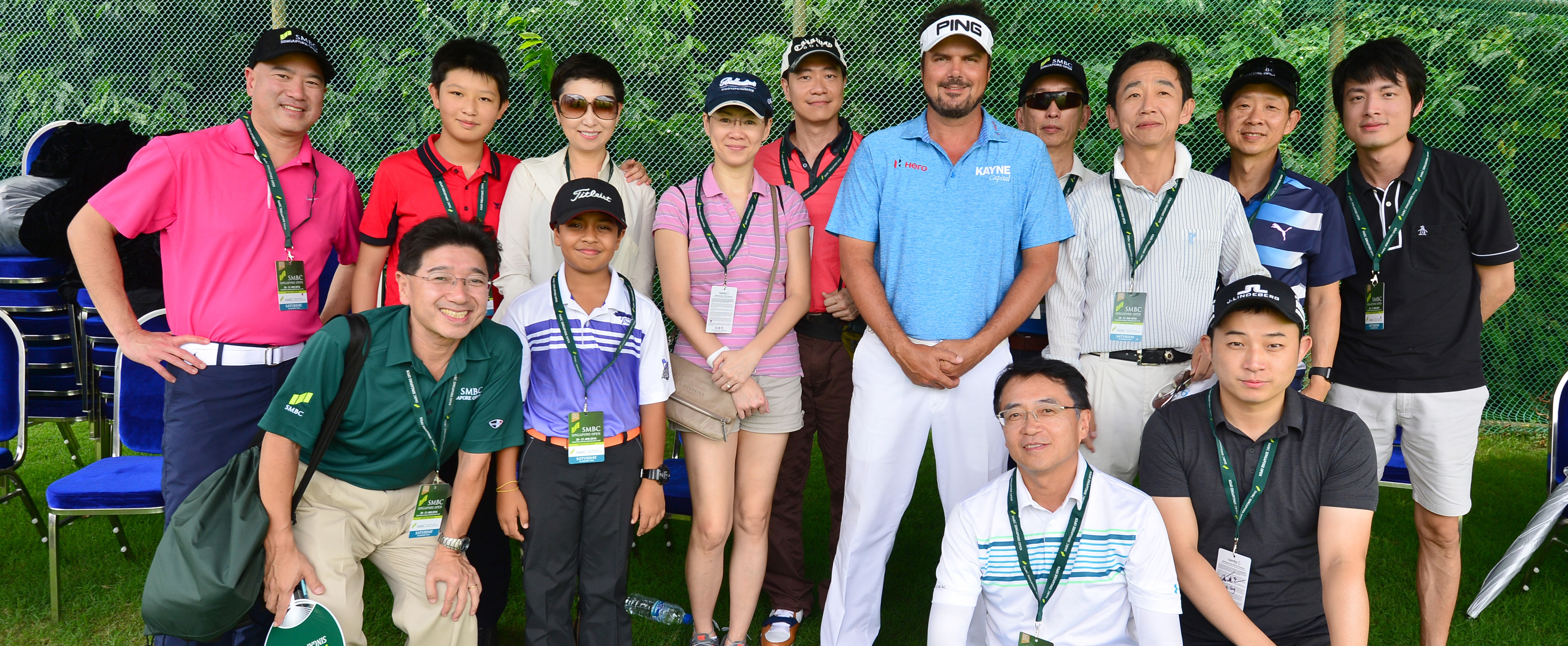 Daniel conducted a golf clinic at this year's SMBC Singapore Open
